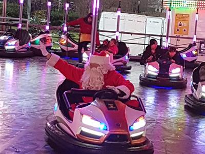 Santa on the Dodgems!