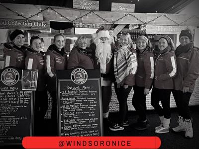 Windsor On Ice Staff with Santa!